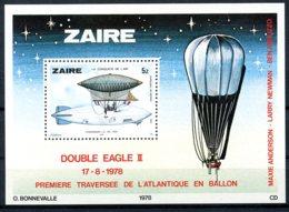 Zaire, 1978, Aviation, Zeppelin, Balloon, MNH, Michel Block 22 - Zaïre