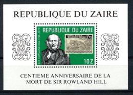 Zaire, 1980, Rowland Hill, UPU, Stamps On Stamps, MNH, Michel Block 32 - Zaïre