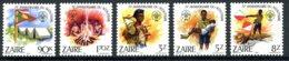 Zaire, 1982, Scouting, Scouts, MNH, Michel 786-790 - Zaïre