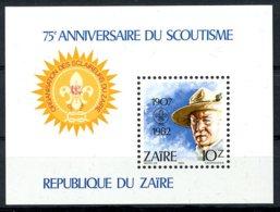 Zaire, 1982, Scouting, Scouts, MNH, Michel Block 44 - Zaïre