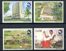 Zaire, 1990, Regideso, Water Management, MNH, Michel 949-952 - Zaïre