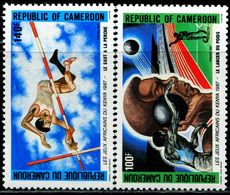 AT4080 Cameroon 1987 African Track And Field Games High Jump 2V MNH - Jumping