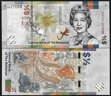BAHAMAS  0.5 $   2001 UNC - Bahama's