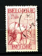 BELGIQUE - YT 381 - 1F+25c Carmin - Oblitéré - Trace De Pli - Belgien