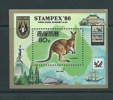 North Korea 1986 Stampex Kangaroo Miniature Sheet MNH - Korea, North