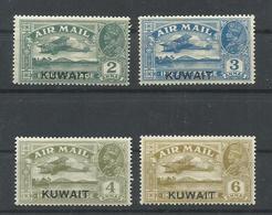 KUWAIT  YVERT AEREO 1/4,  1/2  MNH  **,  3 MH *,  4 (*) - Kuwait