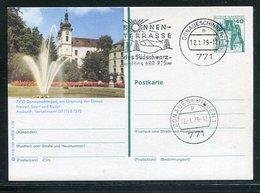 Bundesrepublik Deutschland / 1978 / Bildpostkarte Mit Bildgleichem Stempel > DONAUESCHINGEN (17048) - [7] Federal Republic