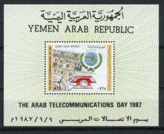 Yemen Arab Republic, 1987, Arab Telecommunication Day, MNH, Michel Block 250 - Yémen