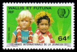 Wallis And Futuna, 1985, International Youth Year, United Nations, UNICEF, MNH, Michel 488 - Wallis And Futuna