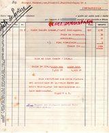 TURQUIE- CONSTANTINOPLE FRANGUL KABARADJIAN- STAMBOUL - BAGHTCHE CAPOU- GANTERIE MEGISSERIE - Factures & Documents Commerciaux