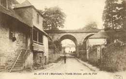 AURAY  (Morbihan) Vieille Maison Près Du Port RV Timbre 20c Cachet Hexagonal - Auray