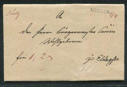 Hannover / 1835 / Vorphila-Brief L1-Stempel MUENDER, Hs. Datum (17067) - [1] ...-1849 Préphilatélie