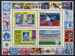 Uruguay, 1976, Soccer World Cup Argentina, Red Cross, Nobel, Dunant, Space, Viking, Olympic Games, MNH, Michel Block 31 - Uruguay