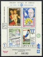 Uruguay, 1977, Rubens, Hess, Nobel, Space, Zeppelin, Concorde, Soccer, MNH, Michel Block 34 - Uruguay