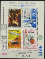 Uruguay, 1977, Rubens, Planck, Nobel, Space, Zeppelin, Concorde, Soccer, MNH, Michel Block 33 - Uruguay