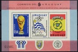 Uruguay, 1979, Soccer World Cup, Football, MNH, Michel Block 44 - Uruguay