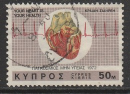 Cyprus  1972 International Heart Campaign 50 M Multicoloured SW 380 O Used - Used Stamps