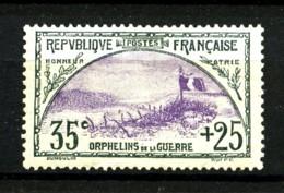 152 - 35c+25c  1° Série Orphelins De Guerre - Neuf N* (trace Légère) - Très Beau - France