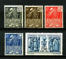 270 / 274 - Exposition Paris 1931  - Série Complète 5 Valeurs - Neufs N** - Très Beaux - Frankreich
