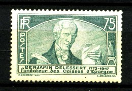 303 - 75c Vert Delessert - Neuf N** - Très Beau - Frankreich