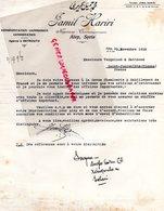 SYRIE ALEP -LETTRE JAMIL HARIRI BEYROUTH A VERGNIAUD RATINAUD SAINT JUNIEN GANTERIE-1928 - Factures & Documents Commerciaux
