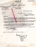 SYRIE ALEP -LETTRE JAMIL HARIRI BEYROUTH A VERGNIAUD RATINAUD SAINT JUNIEN GANTERIE-1928 - Other