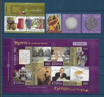 CHYPRE - Annnée  2010 - 20 Timbres + 2 Blocs + 1 Carnets - ( Valeur Faciale 19,40 € ) - Ongebruikt