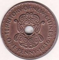 New Guinea , 1 Penny 1936, Edward VIII , Bronze, KM# 6 - Papúa Nueva Guinea