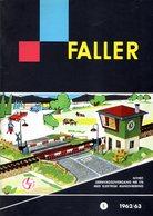 Catalogue FALLER 1962/63 Tillbehör Zubehör HO - En Suédois - Other