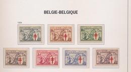 1934  6 ZEGELS  POSTFRIS MET SPOREN VAN SCHARNIER   394  399 - Belgium