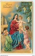 N°11533 - Carte Fantaisie - Gesegnete Weihnachten - Nativité - Anges - Natale