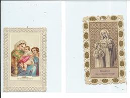 2 Images Pieuses-Education De La Sainte-Vierge Et Marie Est Aussi Notre Mère - Images Religieuses