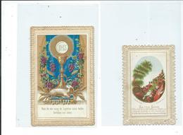2 Images Pieuses-Pain De Vie, Sang De L'Agneau Et La Voie Large - Images Religieuses