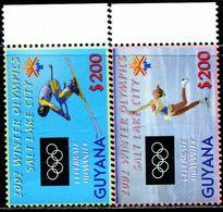 AT4119 Guyana 2002 Salt Lake City Winter Olympics 2V MNH - Winter 2002: Salt Lake City