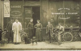 Carte Photo Magasin  Automobiles D'occasion G.DELAPLCE - Rue Des Fontaines PARIS--Personnel-écrite - Francia