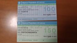 BANCA POPOLARE Di LECCO - [10] Checks And Mini-checks