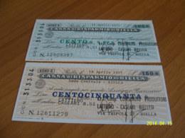 CASSA Di RISPARMIO Di BIELLA - [10] Checks And Mini-checks