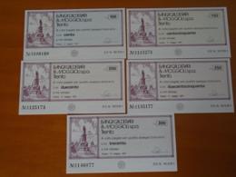BANCA CALDERARI & MOGGIOLI S.p.a.  TRENTO 5 Pezzi - [10] Checks And Mini-checks