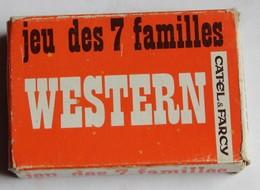 Original Jeu 7 Familles Vintage Western Famille Cow Boy Catel Et Farcy Dessin Le Faou - Cartes à Jouer