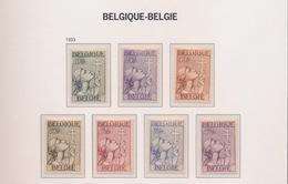 1933 377 - 382   7 POSTFRIS MET SCHARNIER - Belgium