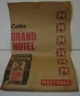 Pu. 83. Grand Sac En Papier Gris Du Vin Trinqueroy Et Des Cafés Grand Hôtel - Publicités