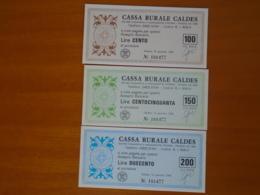 CASSA RURALE CALDES - [10] Assegni E Miniassegni