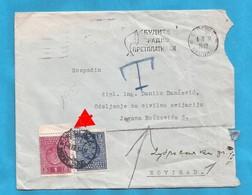 1934 PORTO GEUER BRIEF BOGRAD-NOVI SAD  INTERESSANT JUGOSLAVIJA JUGOSLAWIEN  -  05-05 - 1931-1941 Kingdom Of Yugoslavia