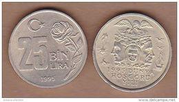 AC- TURKEY - 25 000 LIRA 1995 THE YEAR FOR TOLERANCE AND DESIGNATED UNESCO - Turchia