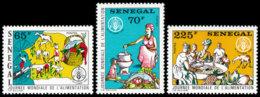 Senegal, 1984, World Food Day, FAO, United Nations, MNH, Michel 823-825 - Senegal (1960-...)