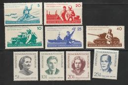 DDR 1962 Michel Nr.n 876-80, 881-84 - Alle Postfrisch. Nationale Volksarmee, Antifaschisten - Ungebraucht