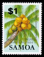 Samoa, 1984, World Postal Congress Hamburg, UPU, United Nations, Coconut, MNH Overprint, Michel 544 - Samoa (Staat)