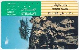 U.A.E. A-507 Optical Etisalat - Landscape, Rock, Plant, Tree - Used - Verenigde Arabische Emiraten