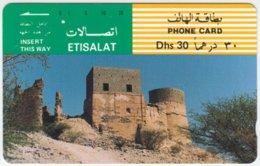 U.A.E. A-512 Optical Etisalat - Culture, Castle, Ruin - Used - Verenigde Arabische Emiraten