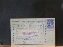 A9165  CP   OBL. BRUGGE POUR OUDENAERDE  1952 REFUSE - Belgium